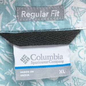 Columbia Shirts - Columbia Blue Under Exposure II Button Down Shirt